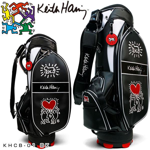 5%OFFクーポン使えます!キースヘリング ゴルフ キャディバッグ Holding Heart KHCB-01 【あす楽対応】