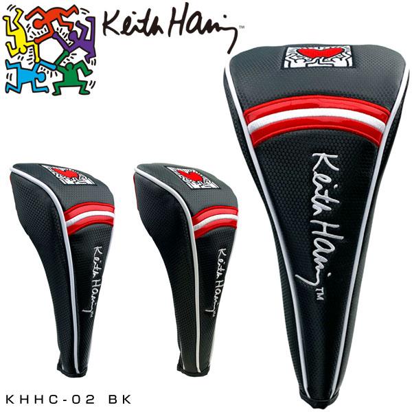 Keith Haringアメリカンポップアートの巨星 キース 4年保証 ヘリングのアートワークをフィーチャーした限定ゴルフアイテム キースヘリング ゴルフ ドライバー用 ユーティリティ用 ヘッドカバー フェアウェイウッド用 新商品 Holding KHHC-02 Heart