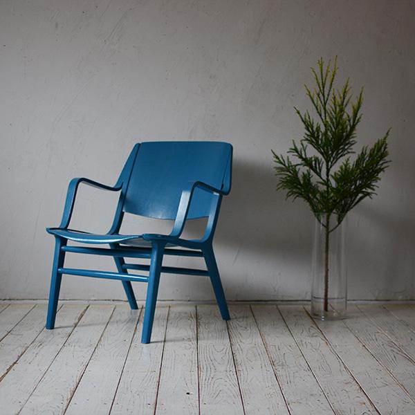 """【デンマーク】【北欧ビンテージ家具】イス チェア イージーチェア 北欧家具 木製椅子 デザイナー ヴィンテージ ダイニングチェア ピーター ハビット Peter Hvidt & Orla Molgaard-Nielsen """"AX"""" Easy Chair D-809D114A"""