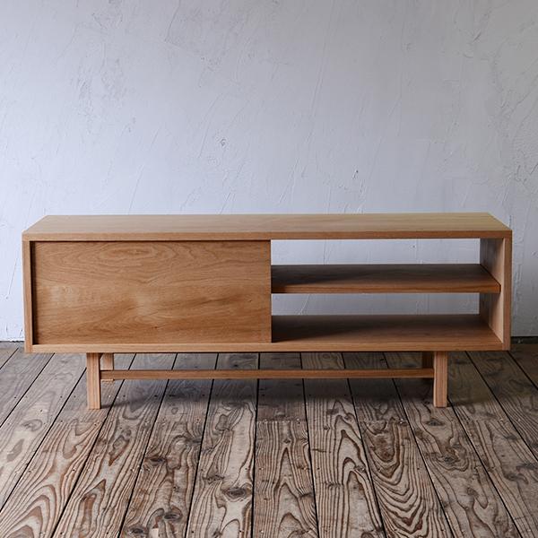 テレビボード AV board W1200 oak | TV台 TVボード AVボード テレビ台 脚付き 北欧家具 無垢材 無垢 オーク オイル仕上げ 天然木 収納 引き出し リビング インテリア ナチュラル シンプル おしゃれ 日本製 国産 北欧