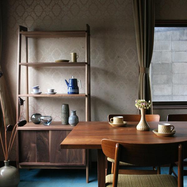 オープンシェルフ Open Shelf 幅 80cm 奥行き 45cm 高さ 175cm ウォルナット | 飾り棚 シェルフ 本棚 オープン 棚 大容量 収納 北欧家具 無垢材 無垢 天然木 リビング ダイニング 書斎 ナチュラル シンプル おしゃれ 日本製 北欧 大型家具