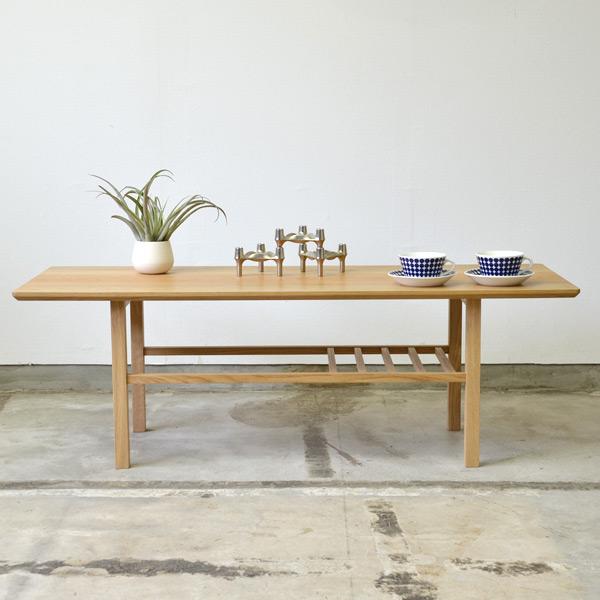 Living Table リビングテーブル 幅 120cm 奥行き 45cm 高さ 40cm オーク | テーブル コーヒーテーブル リビングテーブル ローテーブル 無垢 無垢材 シンプル ナチュラル 北欧 おしゃれ 天板 家具 インテリア 木製 木 リビング