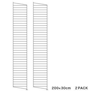 【 送料無料 】 String サイドフレーム 200×30cm (2枚組) | ストリング フレーム 飾り棚 壁掛け 壁付け サイドパネル ウォールシェルフ インテリア おしゃれ お洒落 家具 北欧 北欧家具 ラック 収納 リビング 組み立て