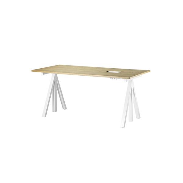 string works 昇降式デスク 幅 120 cm オーク   ストリング ワークス オフィス デスク テーブル 会議テーブル 昇降テーブル 電動式 北欧 スウェーデン 北欧家具 木製 オーク材 シンプル おしゃれ 高さ 調節可能 リビング ダイニング 天板
