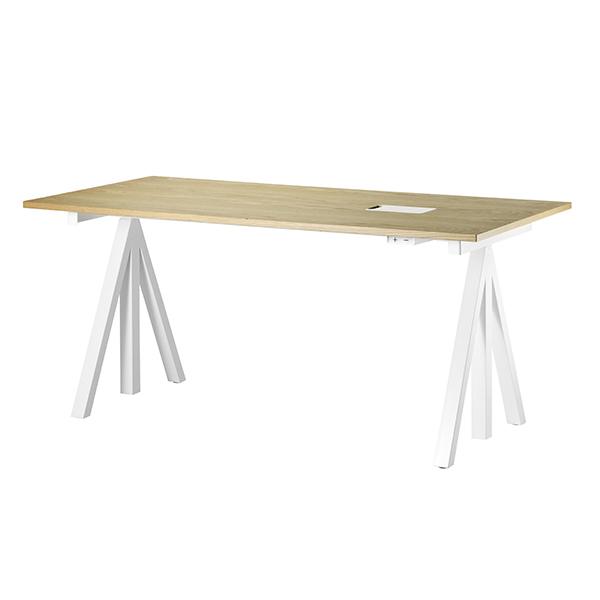 string works 昇降式デスク 幅 160 cm オーク | ストリング ワークス オフィス デスク テーブル 会議テーブル 昇降テーブル 電動式 北欧 スウェーデン 北欧家具 木製 オーク材 シンプル おしゃれ 高さ 調節可能 リビング ダイニング 天板