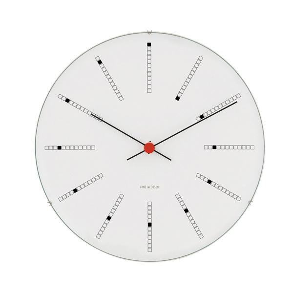 【 送料無料 】Arne Jacobsen Wall Clock 160mm Bankers (1971) | 時計 クロック ウォールクロック 壁掛け 壁掛け時計 アルネヤコブセン ヤコブセン デザイン デザイナー ローゼンダール バンカーズ 丸 シンプル おしゃれ 北欧 デンマーク お洒落 電池式