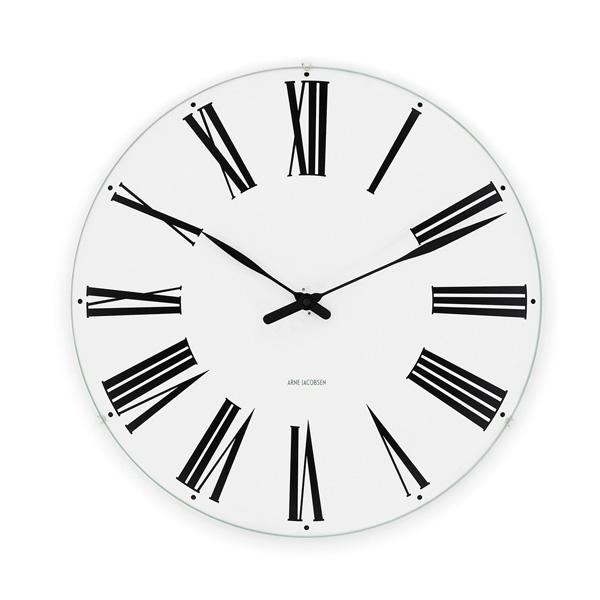 【 送料無料 】Arne Jacobsen Wall Clock 160mm Roman (1942) | 時計 クロック ウォールクロック 壁掛け 壁掛け時計 アルネヤコブセン ヤコブセン デザイン デザイナー ローゼンダール ローマン 丸 シンプル おしゃれ 北欧 デンマーク お洒落 電池式 リビング ダイニング