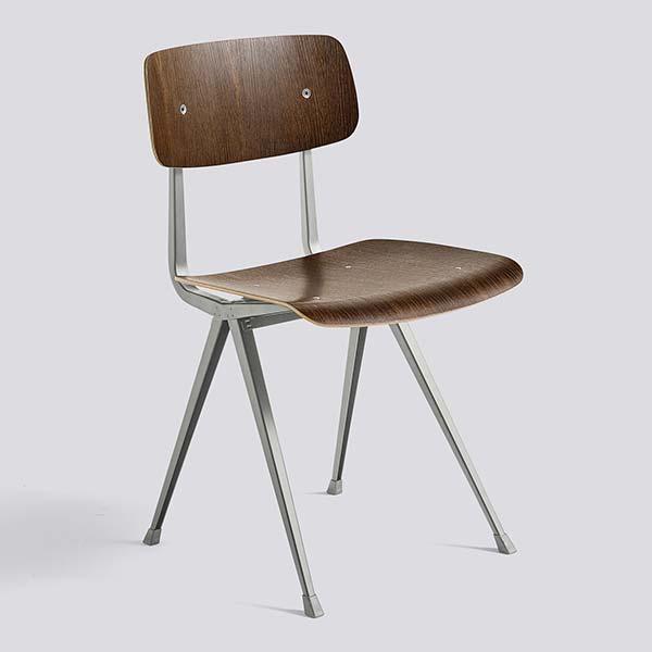 HAY (ヘイ) ダイニングチェア RESULT CHAIR スモークドオーク ラッカー仕上げ | チェア 椅子 ダイニング 北欧家具 インテリア オーク オーク材 スチール インダストリアル シンプル おしゃれ デンマーク 北欧