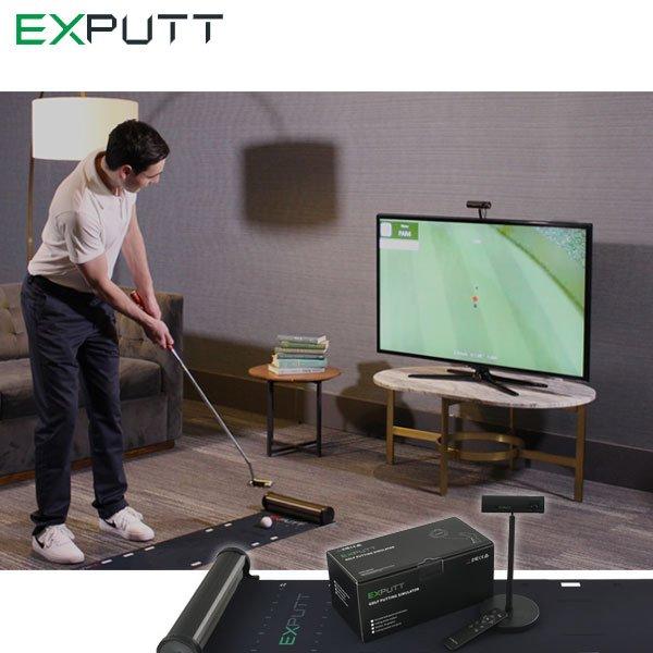 最新家庭用スクリーンパター練習機 場所も取らず 騒音ゼロ テレビに繋げて簡単パター練習 初回限定 低価格 日本正規品 SkyTrak EXPUTT パターゴルフシミュレーター 練習 スカイトラック