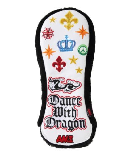Dance With Dragon AM&EコラボHC (DR) 2 D3-739010 ダンスウィズドラゴン エーエムアンドイーコラボ ヘッドカバー ドライバー用 ゴルフ ブラック ホワイト
