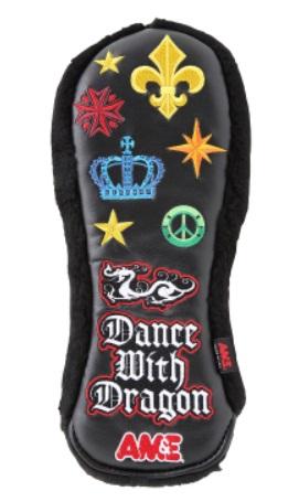 Dance With Dragon AM&EコラボHC 2 (FW) D3-739011 ダンスウィズドラゴン エーエムアンドイーコラボ ヘッドカバー フェアウェイウッド用 ホワイト ブラック ゴルフ