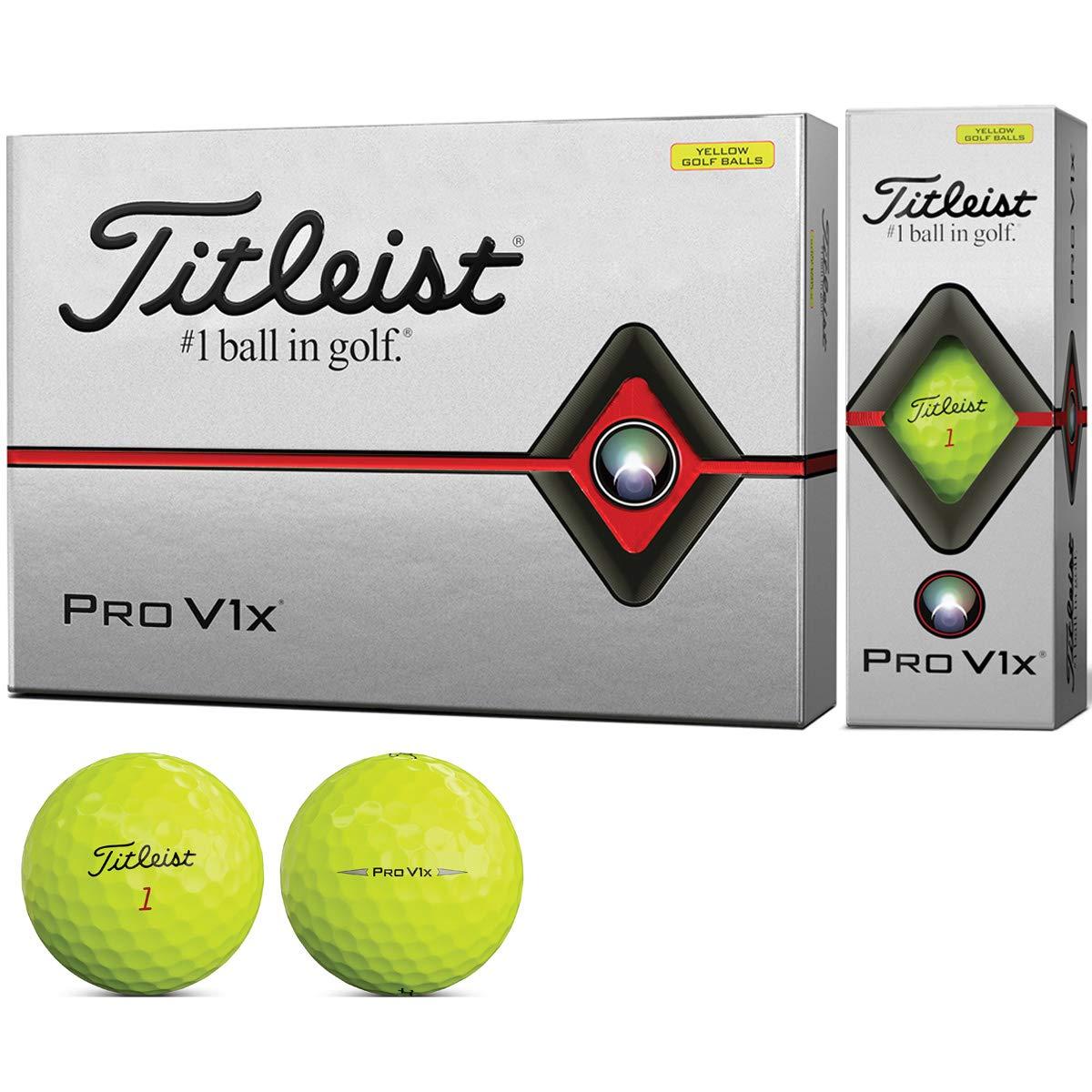 Titleist PRO V1x YELLOW タイトリスト プロブイワンエックス イエロー ボール 2ダースパック 24球 ゴルフ 送料無料 平成最後 令和 新生活