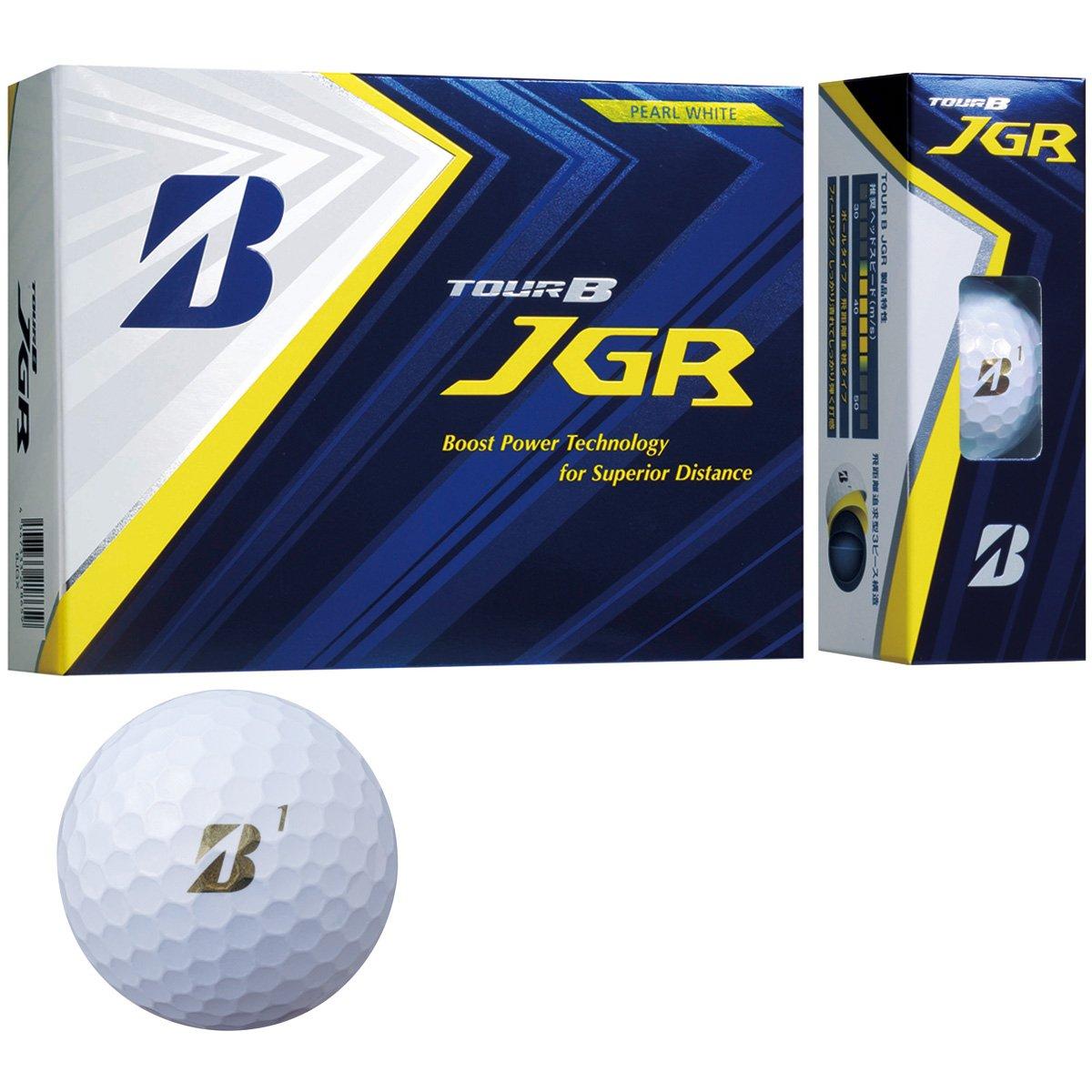 BRIDGESTONE TOUR B JGR PEARL WHITE 8JGX ブリヂストン ツアービー ジェイジーアール パールホワイト 2ダースパック 24球 ボール ゴルフ 送料無料 平成最後 令和 新生活