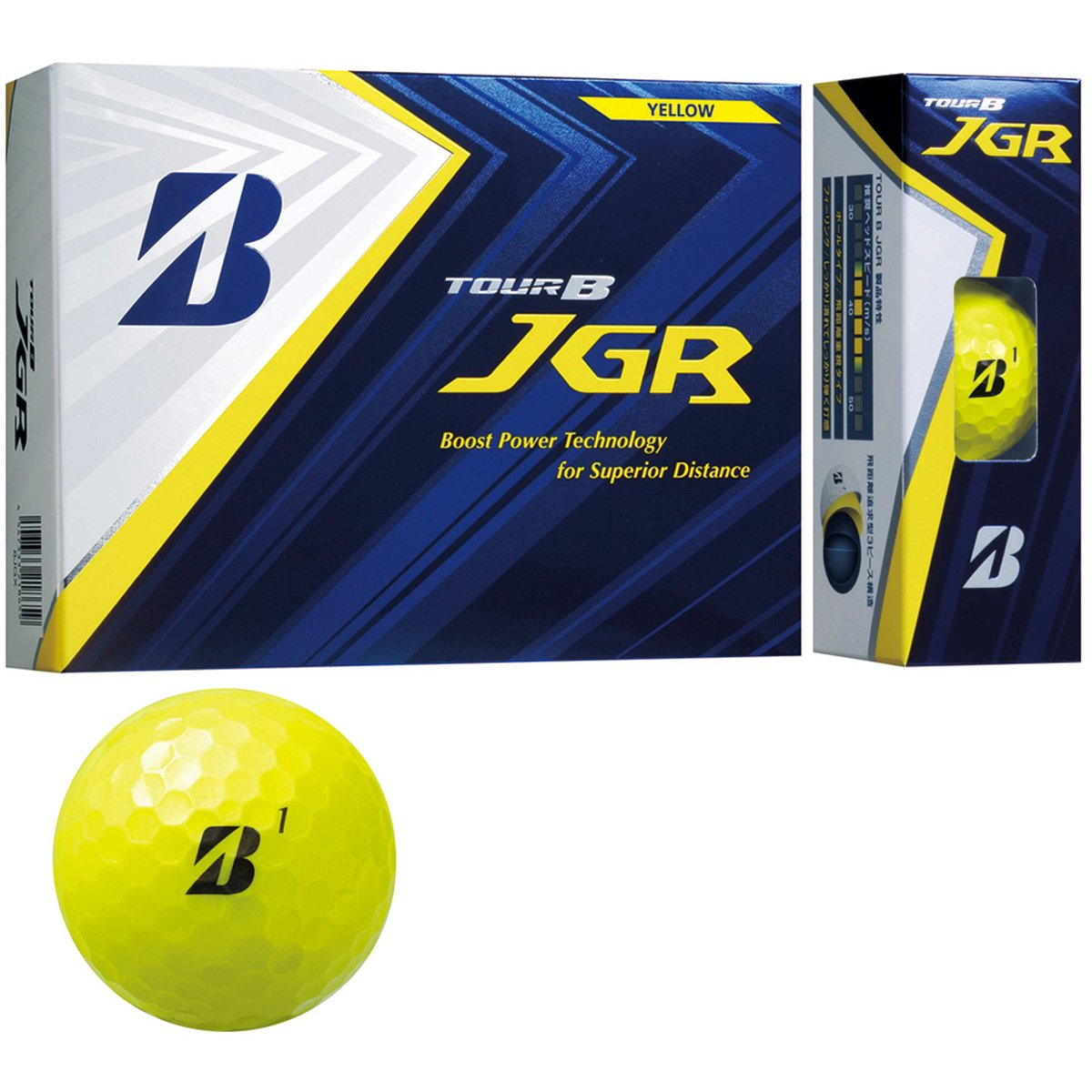 BRIDGESTONE TOUR B JGR YELLOW 8JYX ブリヂストン ツアービー ジェイジーアール イエロー 2ダースパック 24球 ボール ゴルフ 送料無料 平成最後 令和 新生活