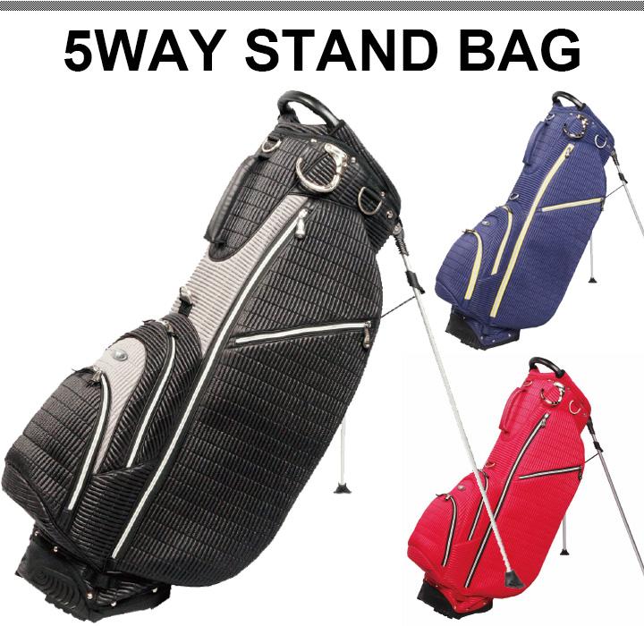 【送料無料】OUUL オウル RIBBED リブド 5WAY STAND BAG スタンドバッグ 各種
