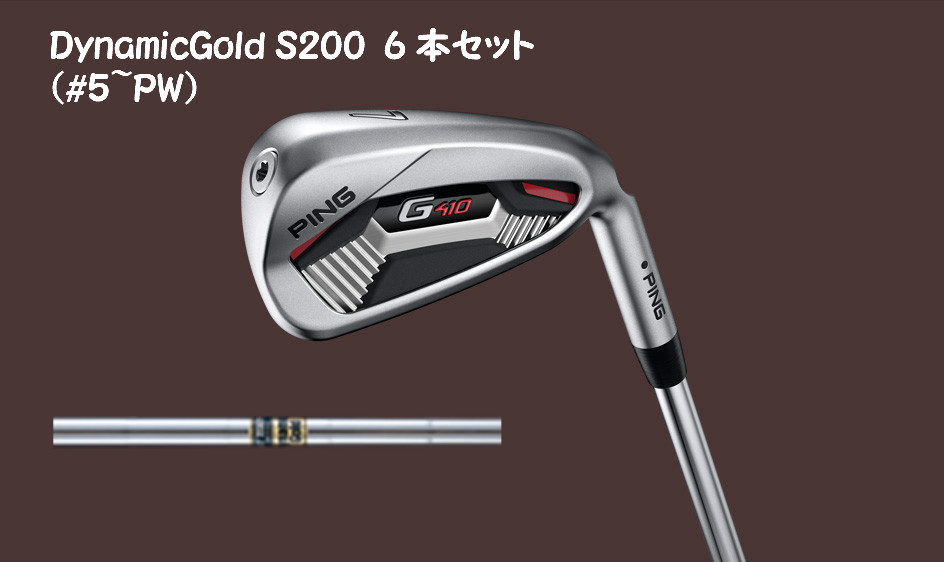 ピン G410 アイアンセット 6本セット(#5-PW) DynamicGold S200 PING IRON ゴルフ ダイナミックゴールドS200 DGS200