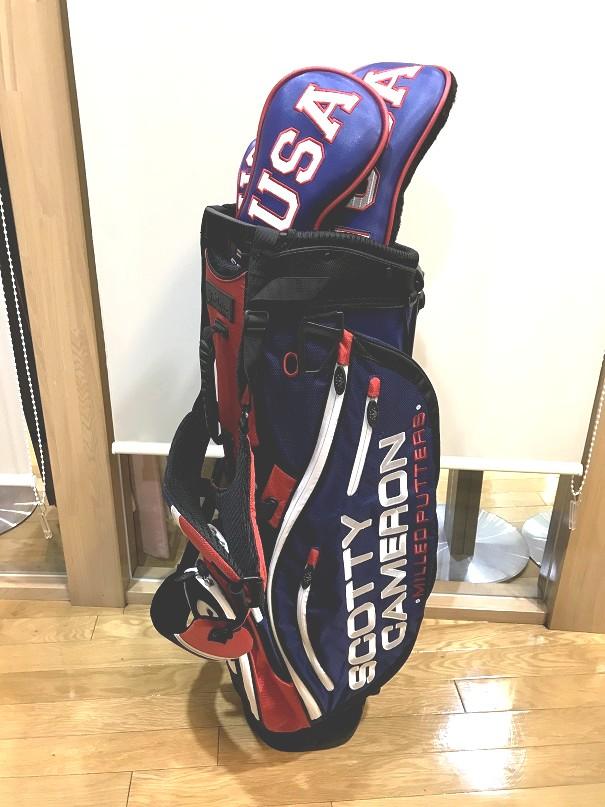 ScottyCameron Stand Bag Americana with Matching Headcovers set スコッティキャメロン スタンドバッグ アメリカーナ ウィズ マッチングヘッドカバー セット アメリカ ゴルフ