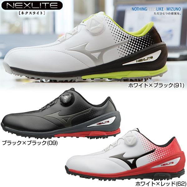 004 ゴルフ NEXLITE ボア 51GM1720 Boa メンズシューズ Mizuno ミズノ ネクスライト