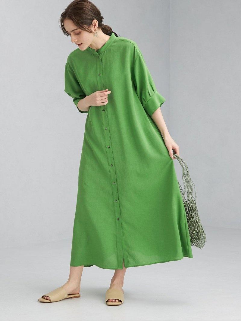 label シャツワンピース green ブラック FFC relaxing ボリューム ユナイテッドアローズ ARROWS ワンピース スリーブ ワンピース ブラウン【送料無料】[Rakuten Fashion] UNITED シャツ グリーンレーベルリラクシング