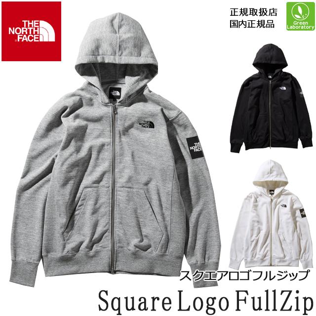 送料無料!ノースフェイス THE NORTH FACE パーカースクエアロゴフルジップ(メンズ)Square Logo FullZip 【正規取扱店】 ジップパーカー スウェット NT11952