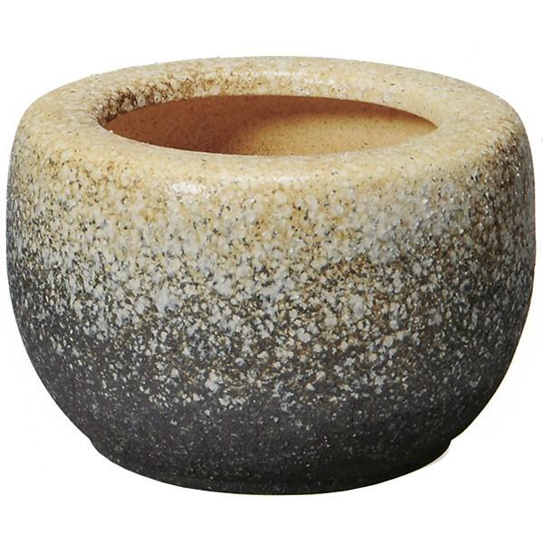 【日本製】 白砂火鉢 15号 全高29cm×幅45cm 信楽焼 しがらきやき 陶器製 焼き物 国産品 炭 灰 砂 土 インテリア