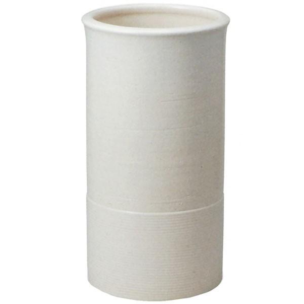 【日本製】 クレイホワイトライン傘立 全高42cm×幅22.5cm 信楽焼 しがらきやき 陶器製 国産品 傘立て 傘入れ レインラック 玄関収納 インテリア
