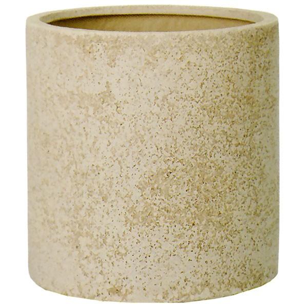 植木鉢 サンディ シリンダー 45型 全高45cm×直径45cm 底穴あり PE樹脂 ポリエチレン ストーンパウダー 円柱 プランター ポット 園芸