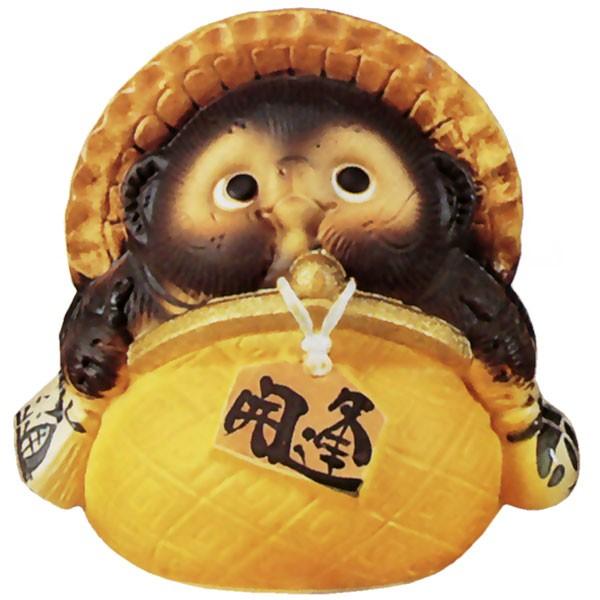 日本製 縁起の良さを体現した信楽焼 陶器製のたぬき 信楽焼 ガマグチ狸 迅速な対応で商品をお届け致します 黄 5号 全高17.5cm×幅17.5cm しがらきやき 焼き物 置き物 陶器製 タヌキ インテリア 国産品 狸 置物 たぬき 誕生日プレゼント