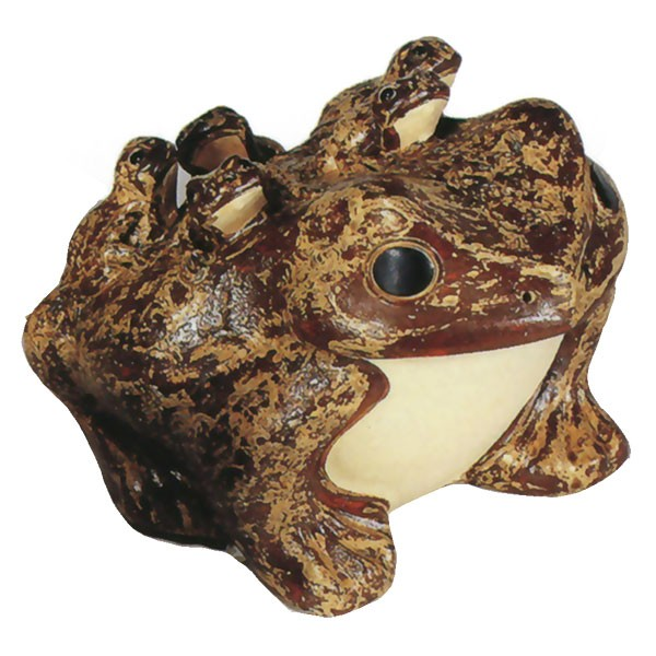 日本製 暮らしに福を呼び込む縁起物 陶器製の信楽焼 信楽焼 六 OUTLET SALE むかえる 12号 全高24cm×幅25.5cm しがらきやき 焼き物 蛙 国産品 カエル 優先配送 かえる オブジェ 置き物 陶器製 インテリア