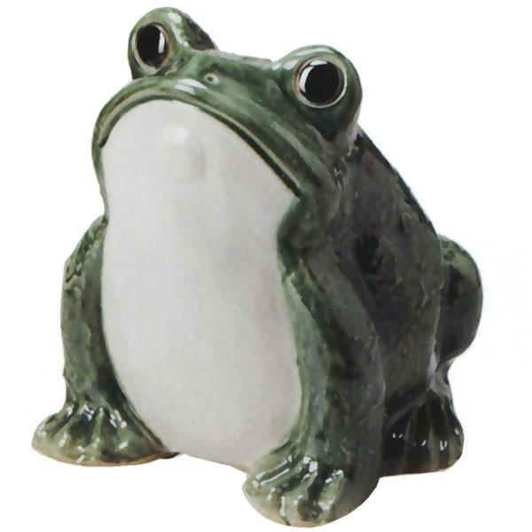 【日本製】 信楽焼 かえるくん 12号 全高24cm×幅23cm しがらきやき 陶器製 国産品 焼き物 カエル かえる 蛙 置き物 インテリア オブジェ