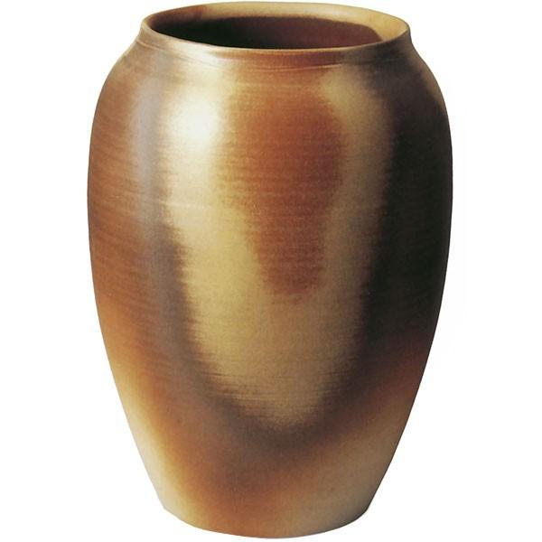 【日本製】 花器 灰釉火色C 20号 全高56cm×幅41.5cm 信楽焼 しがらきやき 陶器製 焼き物 国産品 フラワーベース 花瓶 器 フラワーアレンジメント