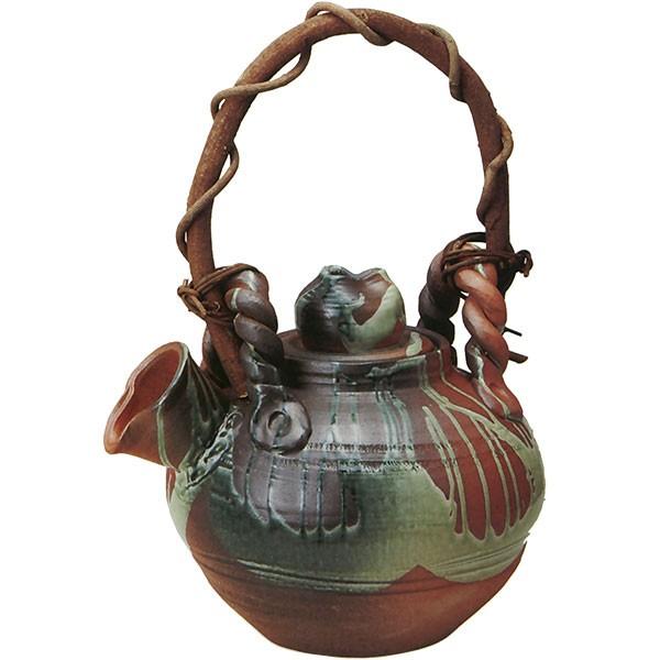 【日本製】花器・ビードロ流し土瓶花入・15号(全高38cm×幅45cm)(信楽焼/しがらきやき)(陶器製)(焼き物/国産品)(フラワーベース/花瓶/器)(フラワーアレンジメント), Yシャツ、バッグ財布のMENS ZAKKA:b7d0420d --- sunward.msk.ru