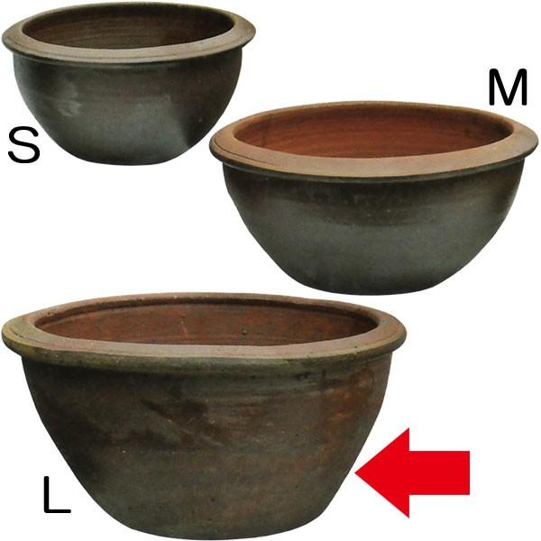 水鉢 JAR A-1 Lサイズ 全高32cm×直径62cm 陶器製 スイレン鉢 水蓮鉢 睡蓮鉢 器 ビオトープ ハイドロカルチャー 水生植物