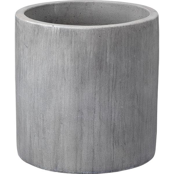 植木鉢 テラコッタ レイニー シリンダー ライトグレー 45型 全高45cm×直径45cm 底穴あり 素焼き 陶器製 プランター ポット 園芸 ガーデニング 寄せ植え RAINY