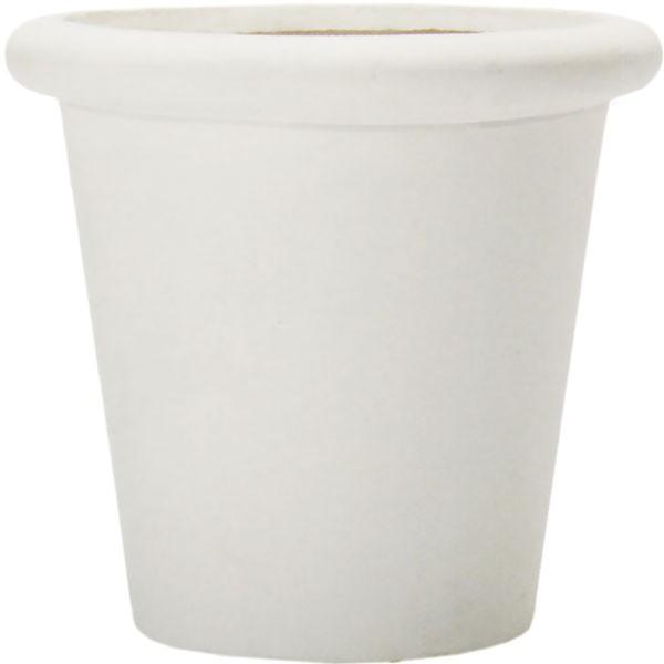 モダンな建築と一体化する植木鉢。重厚感のある軽量プランター  植木鉢 ファイバークレイ ファイ ラウンド プランター 白 55型 18号 全高53cm×直径55cm 底穴あり セメント ガラス繊維 軽量プランター 鉢