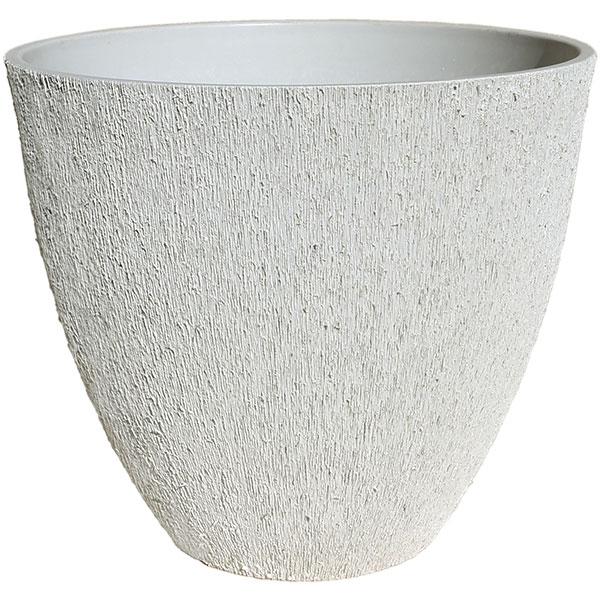 鉢カバー GS30-45cm ホワイト 全高40cm×直径45.5cm 底穴なし PP ポリプロピレン 石粉 木粉 プランター ポット おしゃれ鉢 観葉植物 樹木 花木用