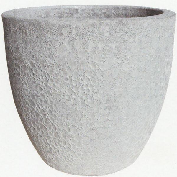 植木鉢 IS001LWH ホワイト 全高41cm×直径46cm 底穴あり 陶器製 プランター ポット 器 園芸 ガーデニング 寄せ植え 樹木 観葉植物用