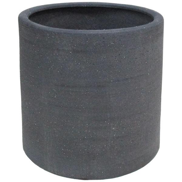 植木鉢 JX47LB 黒土 全高38cm×直径38cm 底穴あり 粘度 陶器 プランター ポット 園芸 ガーデニング 寄せ植え 観葉鉢