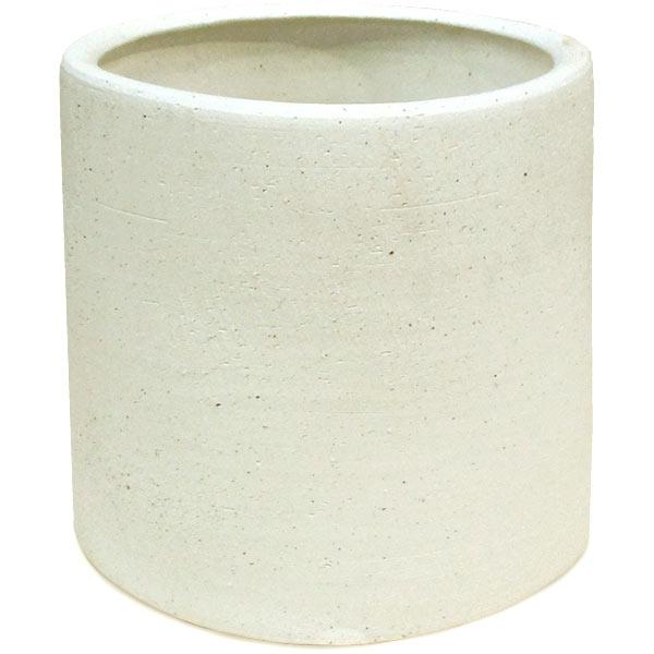 植木鉢 JX47LW 白土 全高38cm×直径38cm 底穴あり 粘度 陶器 プランター ポット 園芸 ガーデニング 寄せ植え 観葉鉢