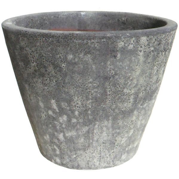 植木鉢 LT001LGL グレー 全高47cm×直径58cm 底穴あり 陶器製 プランター ポット 器 園芸 ガーデニング 寄せ植え 樹木 観葉植物用