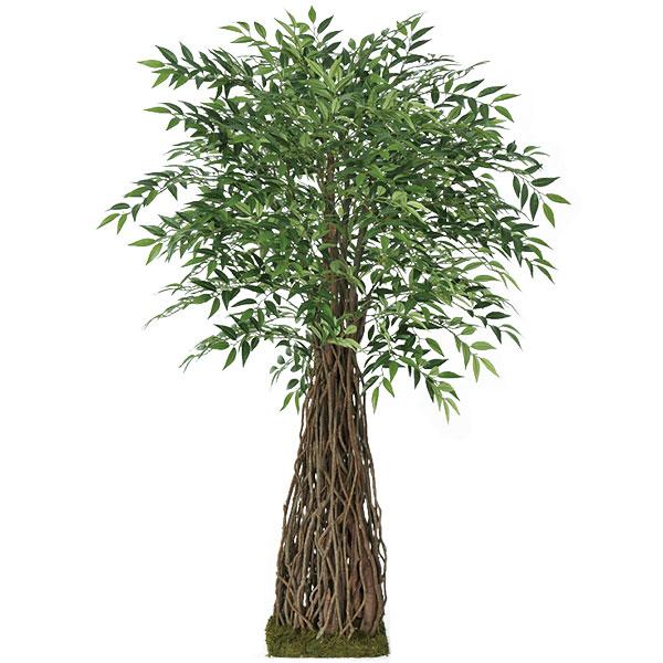 人工観葉植物 全高1.55m スマイラックス ツリー 草薙葛 くさなぎかずら 人工樹木 造花 花材 葉材 インテリアグリーン フェイクグリーン オブジェ ディスプレイ 装飾 店舗 イベント 空間演出