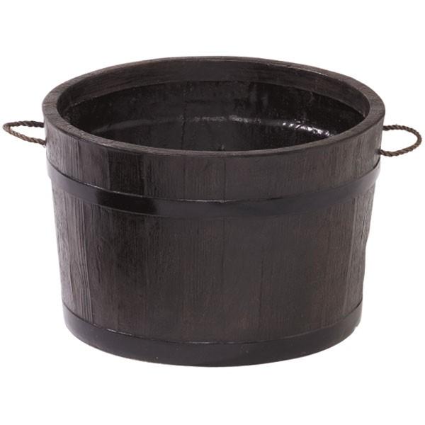 鉢カバー FRP製 モルト プランター 80型 全高50cm×直径79cm 樽型 タル 軽量プランター 植木鉢 鉢 器 花器 ファイバーグラス 樹脂製 観葉植物用