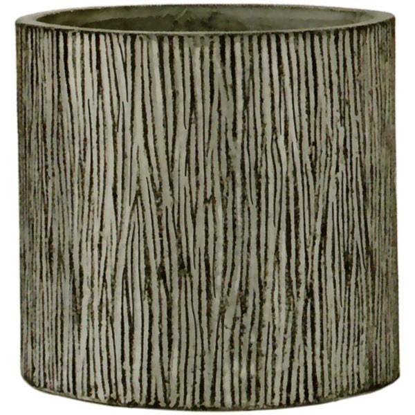 植木鉢 コーテス シリンダー チゼル L38 全高36cm×直径38cm 底穴あり セメント コンクリート ファイバーグラス FRP プランター ポット 園芸 ガーデニング CAUTES