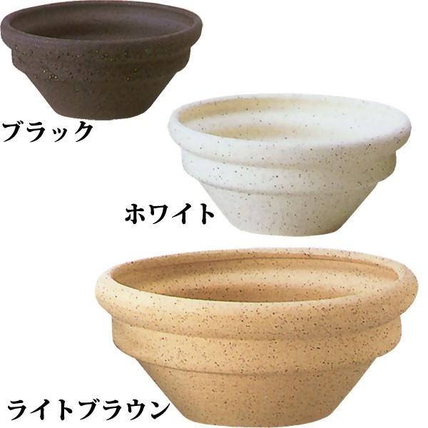 【日本製】 植木鉢 リゲル R-6 15号 全高20cm×直径45cm 信楽焼 しがらきやき 底穴あり 陶器製 国産品 プランター ポット 園芸 植栽