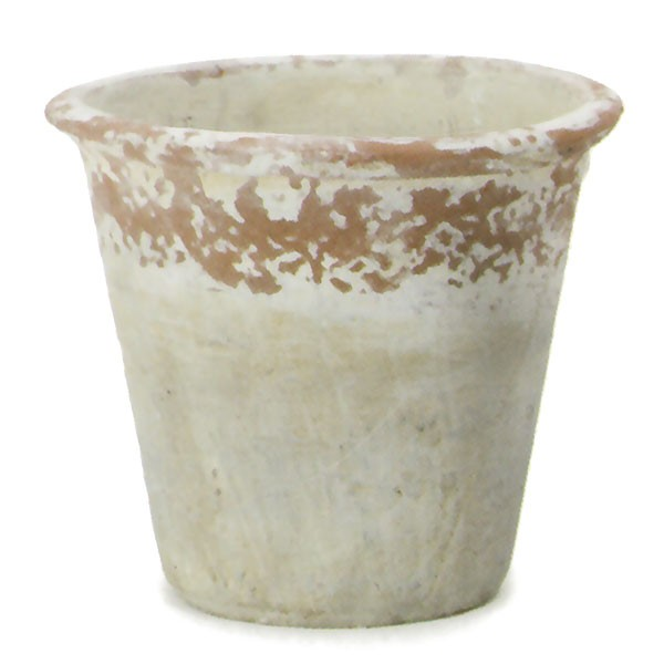 植木鉢 テラコッタ ビンテージポット ドゥーズB 4個セット 7号 全高18.5cm×直径21.5cm 底穴あり 陶器鉢 プランター 園芸 ガーデニング