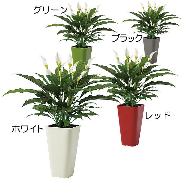 人工観葉植物 全高65cm スパティフィラム スパティフィルム スパテフィラム 人工樹木 造花 リーフ インテリアグリーン フェイクグリーン オブジェ ディスプレイ 装飾