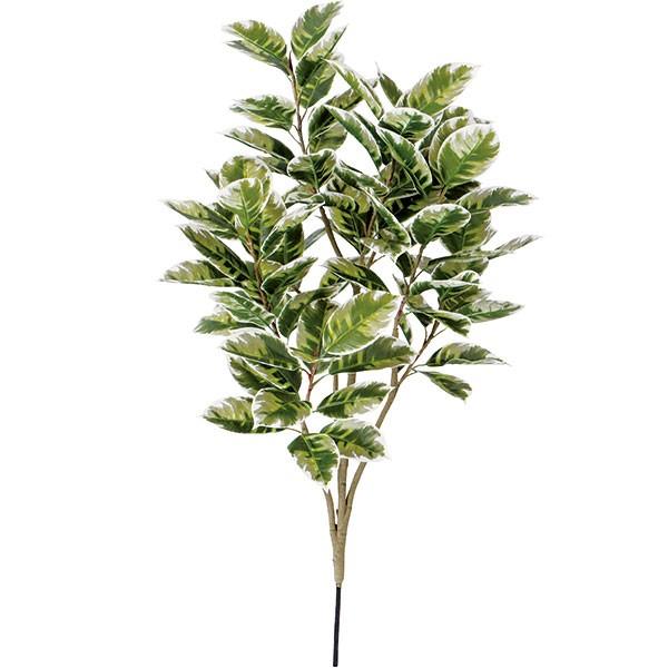 人工観葉植物 ゴムの枝 ライトグリーン S 全長95cm 人工樹木 造花 リーフ 葉材 デコラゴム ゴムの木 ゴムノキ フェイクグリーン FSTブランチ ディスプレイ 装飾