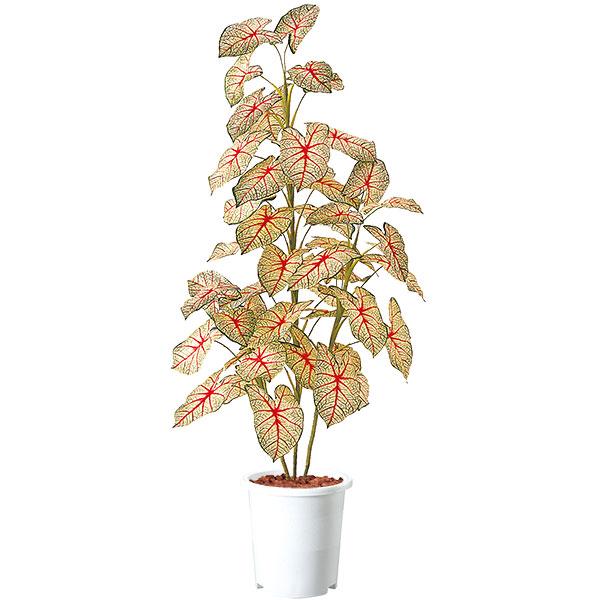人工観葉植物 全高1.6m カラジウム トロピカーナ カラジューム ハニシキ ニシキバ ハイモ ニシキイモ 人工樹木 造花 インテリアグリーン フェイクグリーン ディスプレイ 装飾
