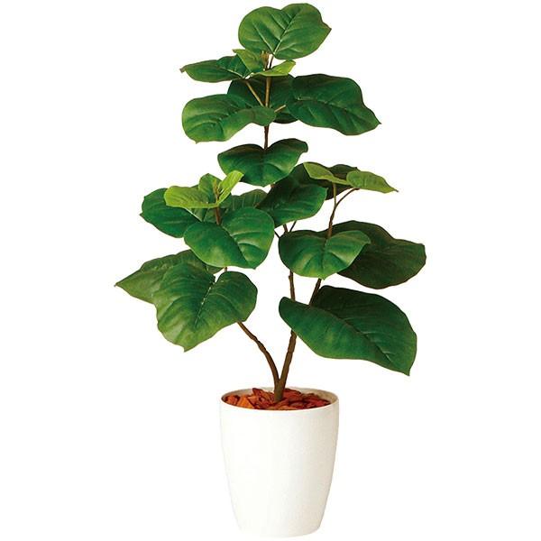 人工観葉植物 全高80cm NEW ウンベラータ ホワイト鉢 フィカス ウンベラタ 人工樹木 造花 花材 リーフ フェイクグリーン インテリアグリーン オブジェ ディスプレイ 装飾