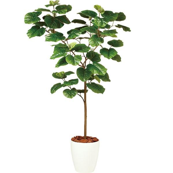 人工観葉植物 全高1.5m ウンベラータ ホワイト鉢 FST フィカス ウンベラタ 人工樹木 造花 花材 フェイクグリーン インテリアグリーン オブジェ ディスプレイ 装飾
